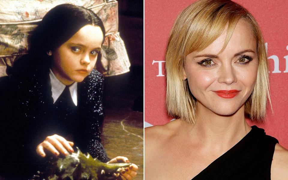 Christina Ricci as Wednesday Addams - Credit: Rex Features