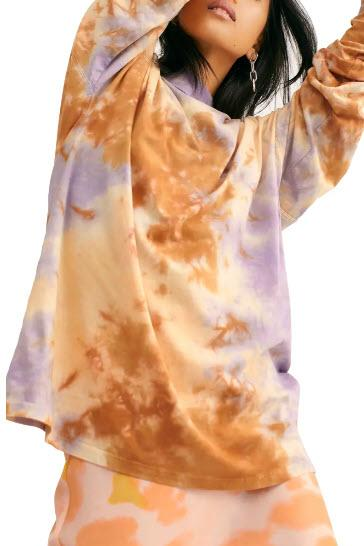 Be Free Tie Dye Oversize Long Sleeve T-Shirt - Free People, Nordstrom, $38 (originally $58)