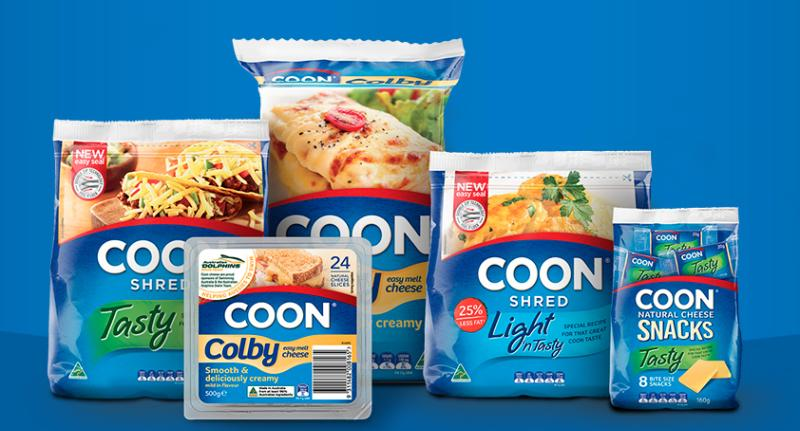 Coon cheese products are pictured.