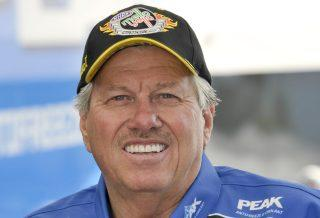 Force tries to keep smiling, but it's not easy for him given what's happening in the world. Photo: NHRA.