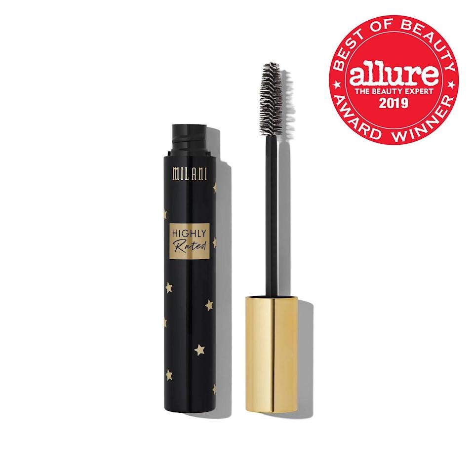 <p>The thick, flexible brush on the <span>Milani Highly Rated Mascara</span> ($9) helps lift and thicken your lashes. Thanks to the clean formula made of plant-based waxes, you'll experience zero clumps.</p>