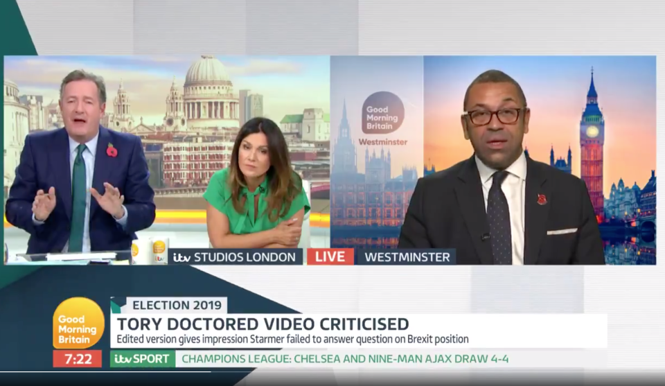 James Cleverly endured an uncomfortable interview on Good Morning Interview.