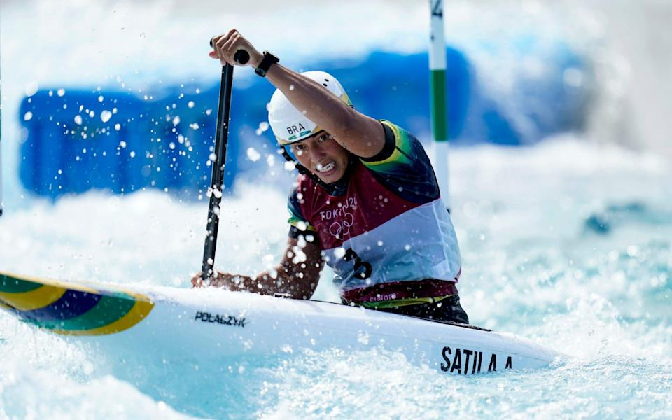 Brazil's Ana Satila during the Women's C1 Canoe Slalom at the Kasai Canoe Slalom Centre on the sixth day of the Tokyo 2020 Olympic Games in Japan. Picture date: Thursday July 29, 202 - PA/Danny Lawson