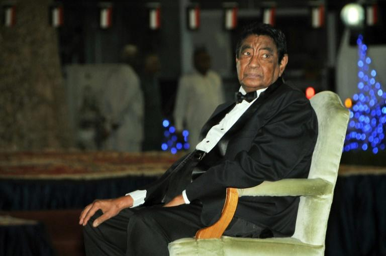 Sudanese musical icon Mohammed Wardi attends a ceremony held to honor him in Khartoum