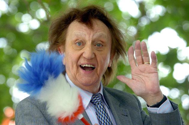 Sir Ken Dodd, with his tickling stick, had been in hospital with a chest infection.