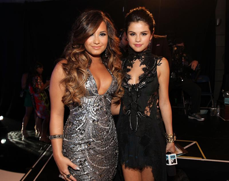 Former friends Lovato and Gomez together in 2011Getty Images