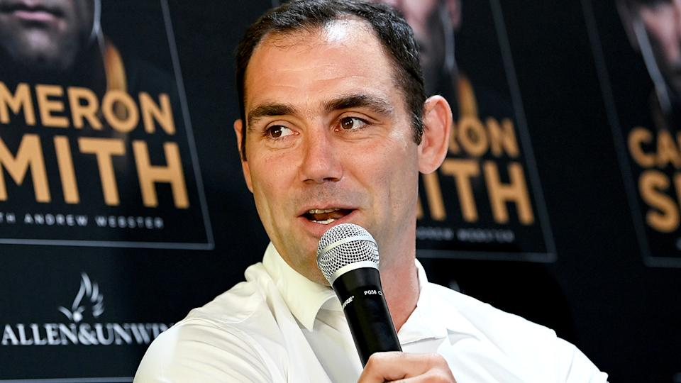 Cameron Smith, pictured here at a press conference to release his autobiography.