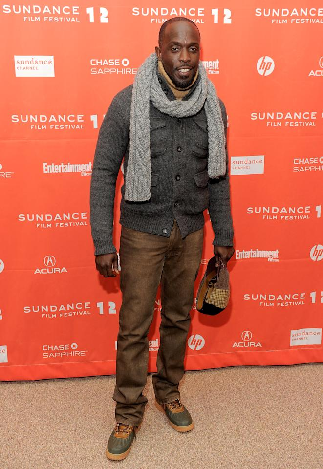 "PARK CITY, UT - JANUARY 23:  Actor Michael Kenneth Williams attends the ""LUV"" premiere during the 2012 Sundance Film Festival held at Eccles Center Theatre on January 23, 2012 in Park City, Utah.  (Photo by Jemal Countess/Getty Images)"