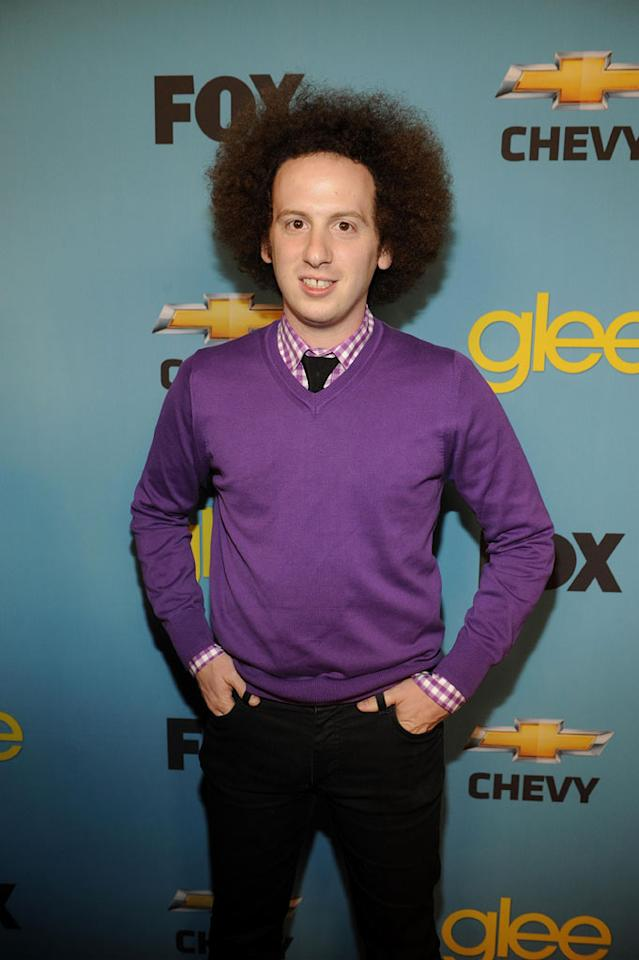 """<a href=""""/joshua-sussman/contributor/993272"""">Josh Sussman</a> (""""Jacob Ben Israel"""")arrives at Fox's <a href=""""/glee/show/44113"""">""""Glee""""</a> Spring Premiere Soiree at Chateau Marmont on April 12, 2010 in Los Angeles, California."""