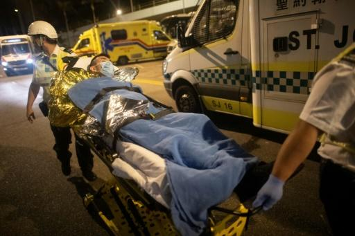 Several of those who left the stand off at the PolyU campus in Hong Kong have been taken to hospital