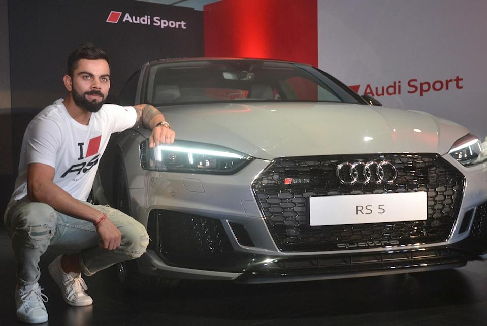 <p>Indian cricket team skipper Virat Kohli at the launch of the second generation Audi RS 5 Coupe in Bengaluru on April 11, 2018. (Photo: IANS) </p>