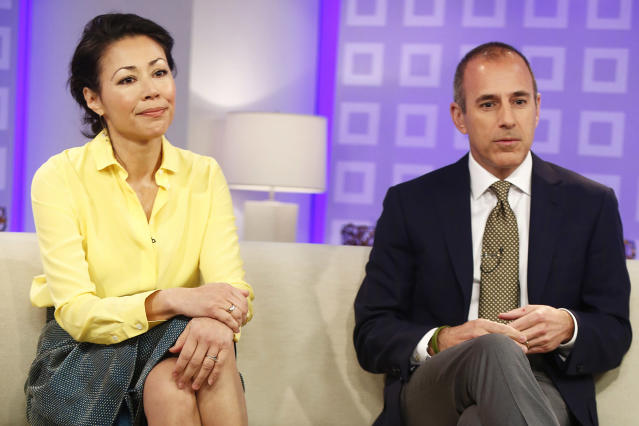 Ann Curry and Matt Lauer on the 'Today show.' (Photo: Peter Kramer/Getty Images)