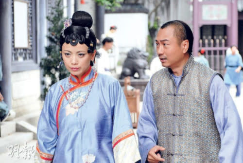 "With co-star Sheren Tang in ""Rosy Business"""