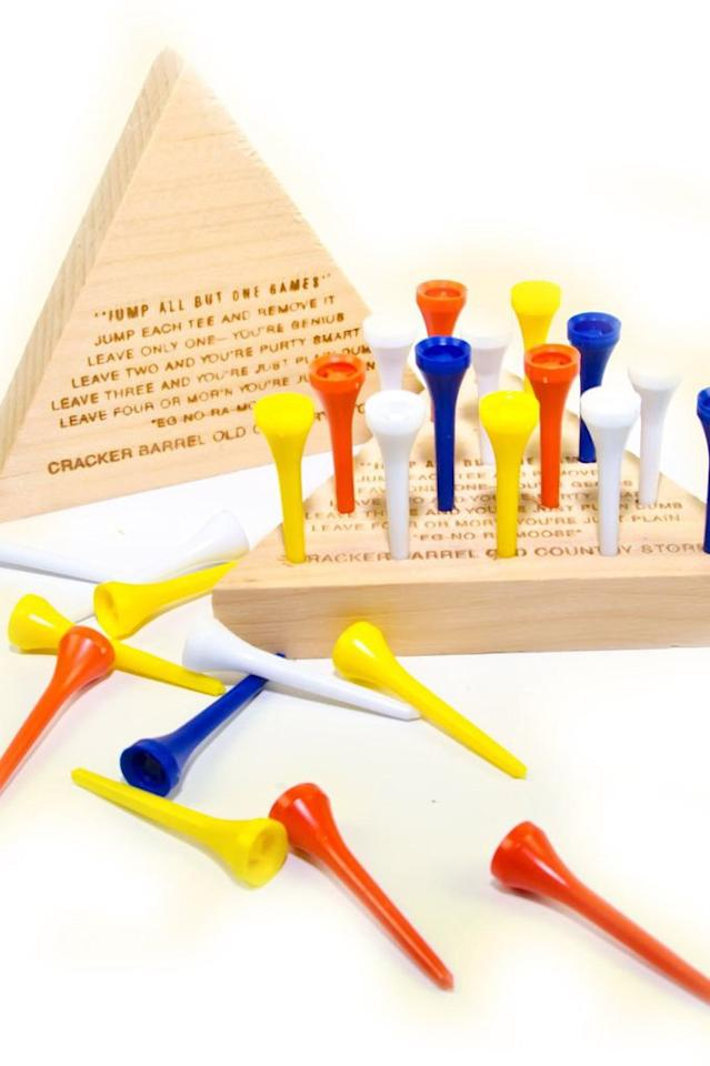 """<p>In our opinion, every Southern kid should recognize this game from visiting a Cracker Barrel, but after <a href=""""http://www.southernliving.com/culture/southern-kids-react-to-the-peg-game-video"""">showing this game to some Southern kids in our studio</a>, we realized it might need some reintroducing. A stocking is the perfect place for this game that isn't touch-screen.</p> <p><b>BUY IT:</b> $3.99; <a href=""""http://shop.crackerbarrel.com/toys-games/games/travel-games/peg-game/606154"""" target=""""_blank"""">crackerbarrel.com</a></p>"""