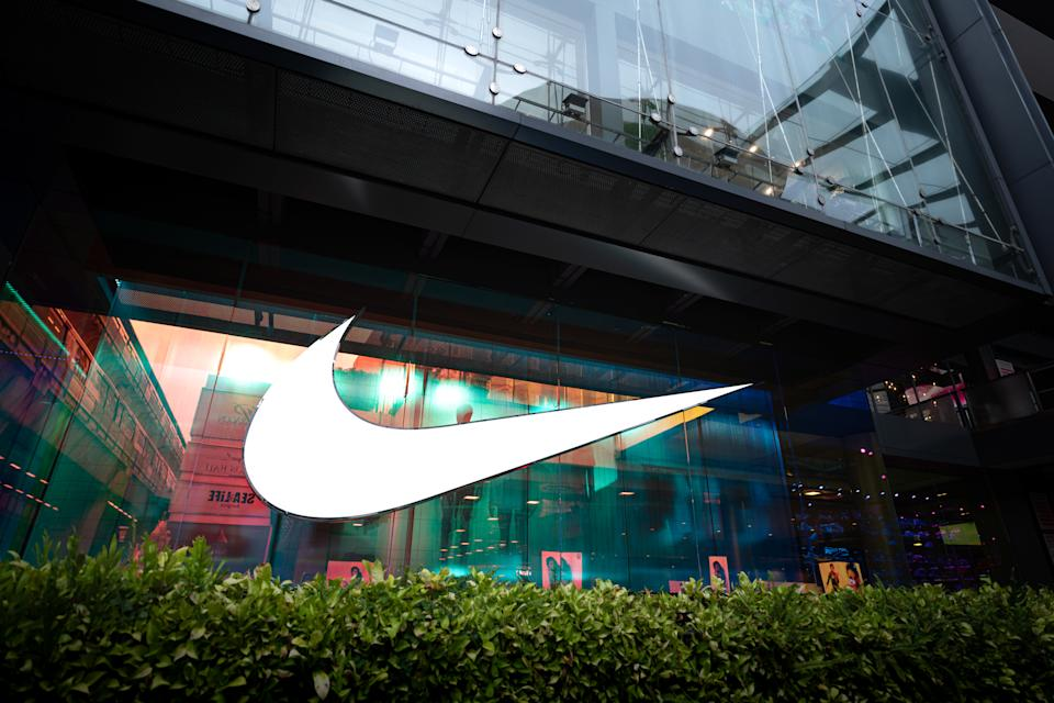 Bangkok / Thailand - June 2020 : Nike is opening the new shop that located at Siam Center shopping mall. The new shop is reprensenred as the Biggest flagship store in ASEAN region.