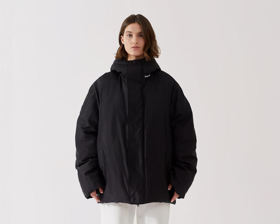 """<br><br><strong>Pangaia</strong> Flower-Down Puffer Jacket, $, available at <a href=""""https://www.thepangaia.com/products/puffer-jacket-black"""" rel=""""nofollow noopener"""" target=""""_blank"""" data-ylk=""""slk:Pangaia"""" class=""""link rapid-noclick-resp"""">Pangaia</a>"""