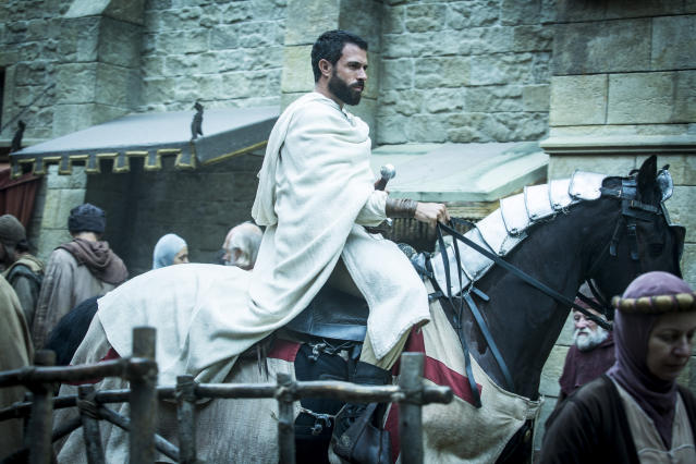 Tom Cullen as Templar Knight Landry. (Photo: Larry Horricks/History)