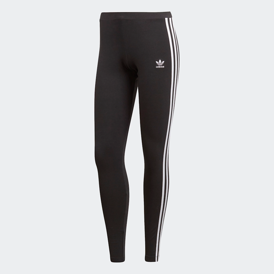"""<strong><h3>Adidas: The Classic Athleisure Legging</h3></strong> <br>These best selling leggings are almost ubiquitous within the leggings fan community. To achieve the true athleisure look, opt for this classic Adidas pair.<br><br><strong>The hype:</strong> 4.6 out of 5 stars and 2,779 reviews on Adidas<br><br><strong>What they're saying:</strong> """"Bold leggings that fit perfectly, don't get a size too small if you're between two. Always go for the larger one! They look great and I can't wait to wear them with my superstars"""" - Auorora, Adidas Review<br><br><strong>Adidas</strong> 3-stripes Leggings, $, available at <a href=""""https://amzn.to/33CujCp"""" rel=""""nofollow noopener"""" target=""""_blank"""" data-ylk=""""slk:Adidas"""" class=""""link rapid-noclick-resp"""">Adidas</a><br><br><br><br><br>"""