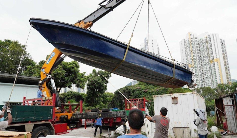Authorities suspect the illegal shipyard was used to build, modify and store smuggling vessels. Photo: Robert Ng