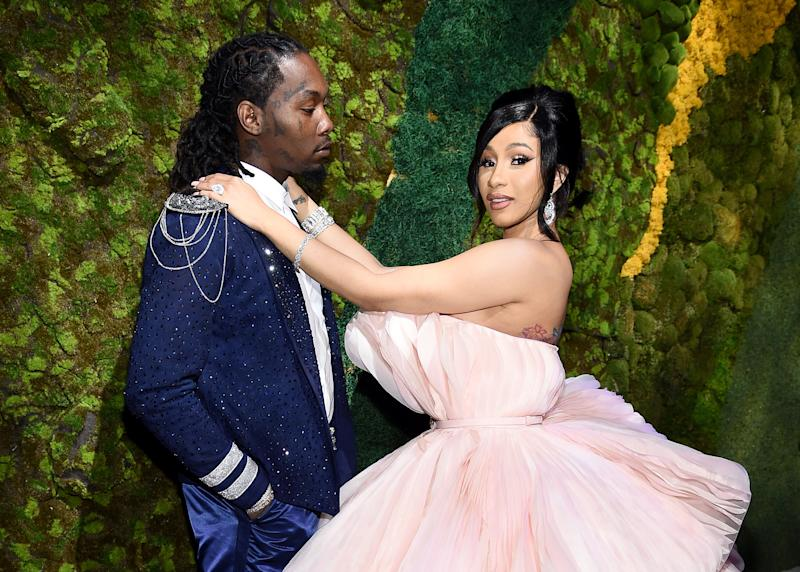 Offset and Cardi B attend Rihanna's 5th Annual Diamond Ball at Cipriani Wall Street on Sept. 12 in New York. (Photo: Dimitrios Kambouris via Getty Images)