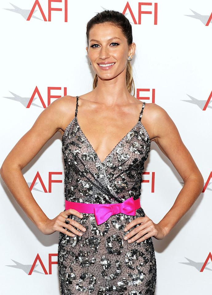 "Model Gisele Bundchen turns 31. Frazer Harrison/<a href=""http://www.gettyimages.com/"" target=""new"">GettyImages.com</a> for AFI - June 19, 2011"