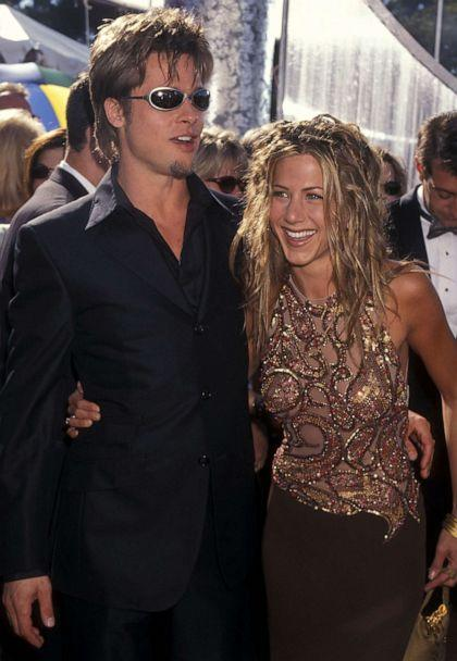PHOTO: Brad Pitt and Jennifer Aniston attend the 51st Annual Primetime Emmy Awards on Sept. 12, 1999, at Shrine Auditorium in Los Angeles. (Ron Galella, Ltd./Ron Galella Collection via Getty Images, FILE)