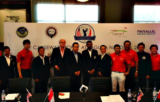 The Causeway Trophy 2013 will follow the same Ryder Cup format and pits 12 of the best golfers from Singapore and Malaysia. (Yahoo! photo)