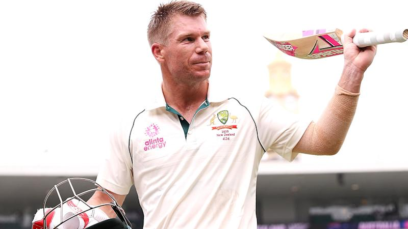 David Warner, pictured here after his century against New Zealand at the SCG.