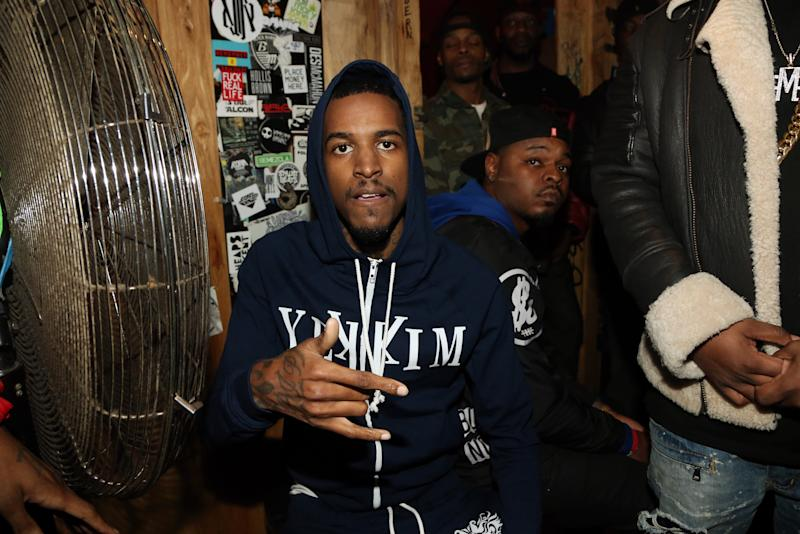 NEW YORK, NY - JANUARY 12: Recording artist Lil Reese backstage at Webster Hall on January 12, 2016, in New York City. (Photo by Johnny Nunez/WireImage)