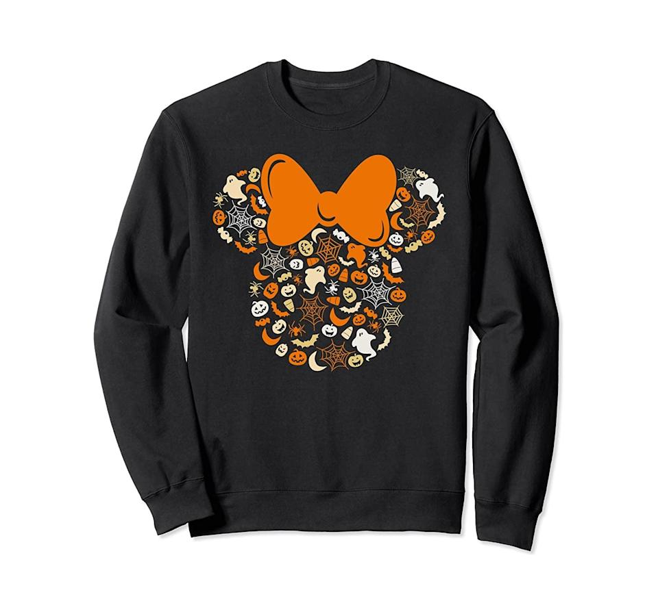 <p>This cozy <span>Disney Minnie Mouse Halloween Sweatshirt</span> ($35) is too cute to pass up.</p>