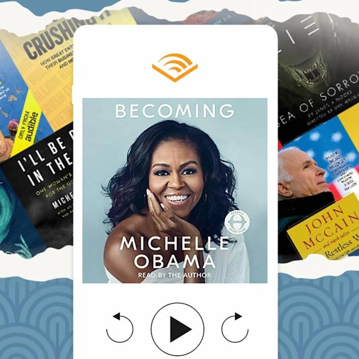 """Anyone who struggles to find time for reading could benefit from a three-month subscription to Audible, which will let them catch up on the <a href=""""https://www.glamour.com/gallery/best-books-of-2020?mbid=synd_yahoo_rss"""" rel=""""nofollow noopener"""" target=""""_blank"""" data-ylk=""""slk:buzziest books"""" class=""""link rapid-noclick-resp"""">buzziest books</a> while they cook, work out, or perfect a <a href=""""https://www.glamour.com/gallery/best-summer-nail-trends?mbid=synd_yahoo_rss"""" rel=""""nofollow noopener"""" target=""""_blank"""" data-ylk=""""slk:summer mani"""" class=""""link rapid-noclick-resp"""">summer mani</a>. $45, Amazon. <a href=""""https://www.amazon.com/hz/audible/gift-membership-detail/ref=as_li_ss_tl"""" rel=""""nofollow noopener"""" target=""""_blank"""" data-ylk=""""slk:Get it now!"""" class=""""link rapid-noclick-resp"""">Get it now!</a>"""