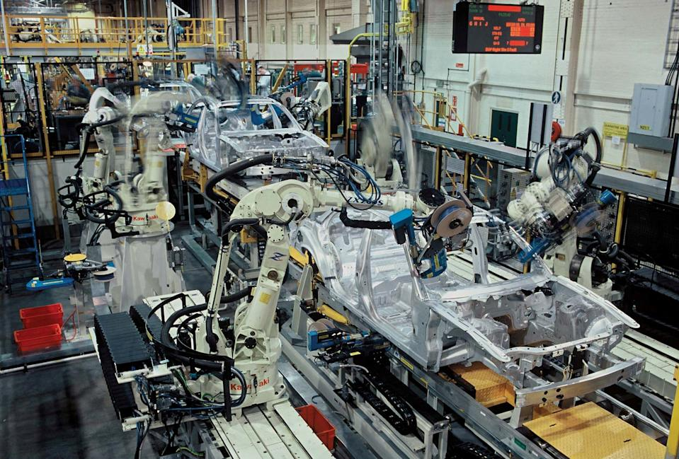 FILE PICTURE - General View of the Jaguar XJ production line at Coventry's Browns Lane site in 2004.  A gender-fluid worker has won an employment tribunal against Jaguar Land Rover (JLR).  See SWNS story SWMDgender.  Ms R Taylor brought claims against the company, saying she had suffered abuse and a lack of support. She successfully argued she suffered harassment and discrimination because of gender reassignment.  In a statement, JLR apologised to Ms Taylor for her experiences during her employment and said it continued to strive to improve in this area.  Ms Taylor had worked at the company for almost 20 years as an engineer and had previously presented as male, said her barrister Robin White.  The JLR employee began identifying as gender fluid in 2017.  She then usually dressed in women's clothing and was subsequently subjected to insults from colleagues and abusive jokes at work, said Ms White.  Ms Taylor also suffered difficulties using toilet facilities and getting managerial support, the lawyer added.