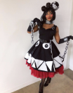 """<p>Want to ensure your creative costume is totally unique? Turn a black dress into a classic Super Mario Bros. character. You'll need a little white and black felt, plus a red petticoat or tutu.</p><p><a class=""""link rapid-noclick-resp"""" href=""""https://www.instagram.com/p/B4IZEXmD0tt/"""" rel=""""nofollow noopener"""" target=""""_blank"""" data-ylk=""""slk:SEE MORE"""">SEE MORE</a></p><p><a class=""""link rapid-noclick-resp"""" href=""""https://www.amazon.com/GRACE-KARIN-Petticoat-Crinoline-Underskirts/dp/B07KYDHX6D?tag=syn-yahoo-20&ascsubtag=%5Bartid%7C10072.g.33547559%5Bsrc%7Cyahoo-us"""" rel=""""nofollow noopener"""" target=""""_blank"""" data-ylk=""""slk:SHOP PETTICOAT"""">SHOP PETTICOAT</a></p>"""