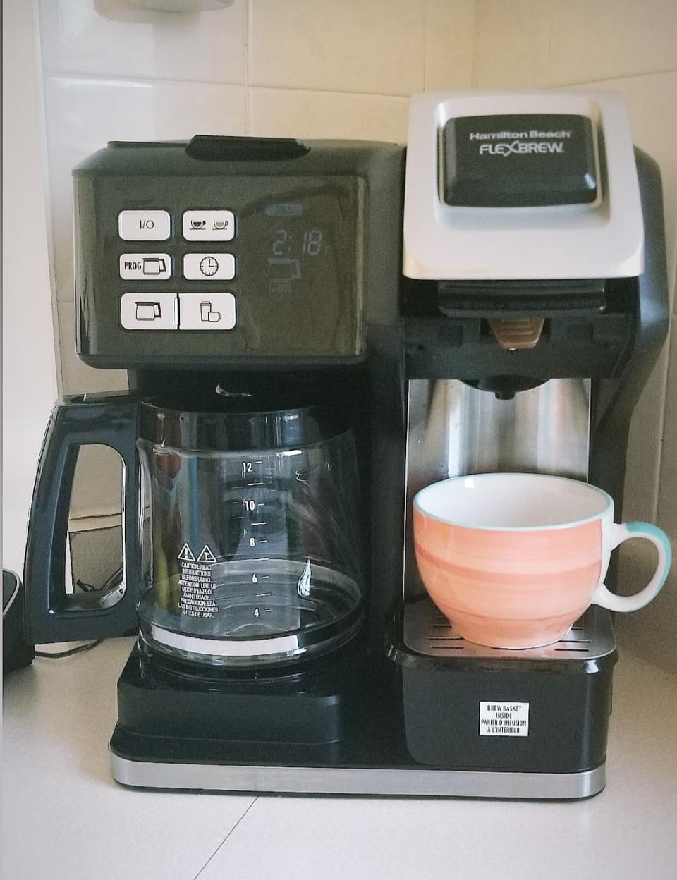 Hamilton Beach FlexBrew Coffee Maker. Image via Sarah Rohoman.