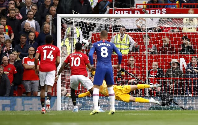 Rashford scored his penalty against Chelsea