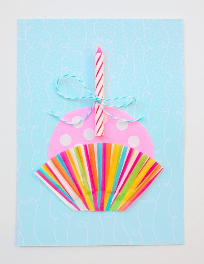 """<p>This cute as a, well, cupcake card is made with an actual cupcake liner! <strong><br></strong></p><p><strong>Get the tutorial at <a href=""""https://diycandy.com/cute-cupcake-diy-birthday-card/"""" rel=""""nofollow noopener"""" target=""""_blank"""" data-ylk=""""slk:DIY Candy"""" class=""""link rapid-noclick-resp"""">DIY Candy</a>.</strong> </p>"""