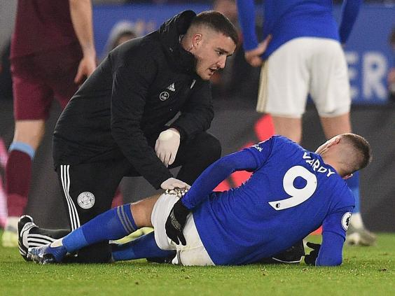 Jamie Vardy picked up a hamstring injury (AFP)