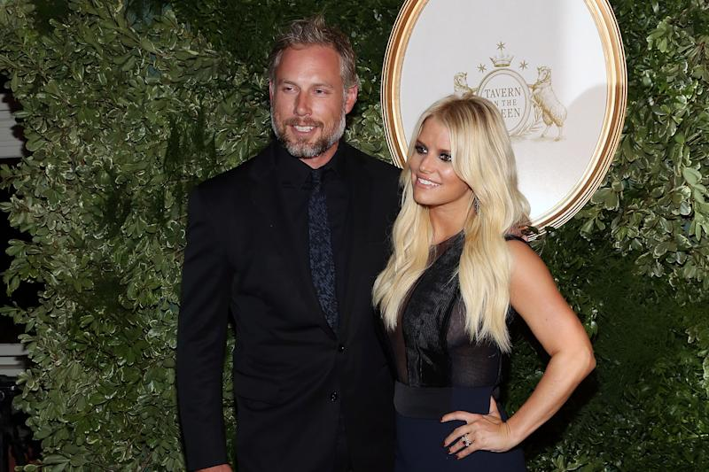 Jessica Simpson credits husband Eric Johnson with helping her sobriety. (Photo: Taylor Hill/FilmMagic)