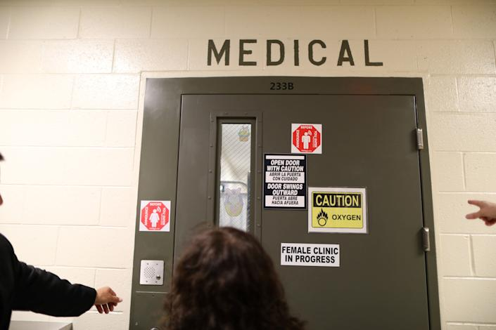 The women's medical room is seen at the Adelanto immigration detention center, which is run by the Geo Group, in Adelanto, Calif., on April 13, 2017. (Photo: Lucy Nicholson/Reuters)