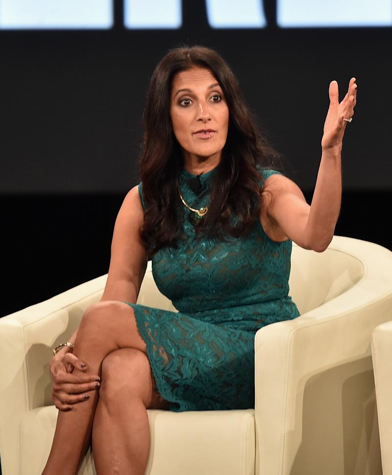RANCHO PALOS VERDES, CA - FEBRUARY 02: Sukhinder Singh Cassidy, founder of theBoardist speaks at the AOL 2016 MAKERS conference at Terranea Resort on February 2, 2016 in Rancho Palos Verdes, California. (Photo by Alberto E. Rodriguez/Getty Images)