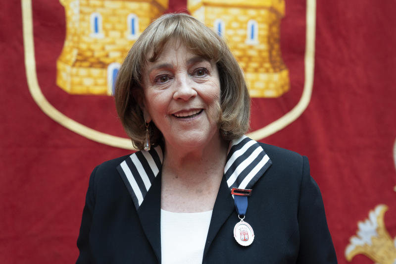 Carmen Maura receives 'Medalla De las artes de la Comunidad de Madrid' on March 19, 2019 in Madrid, Spain. (Photo by Oscar Gonzalez/NurPhoto via Getty Images)