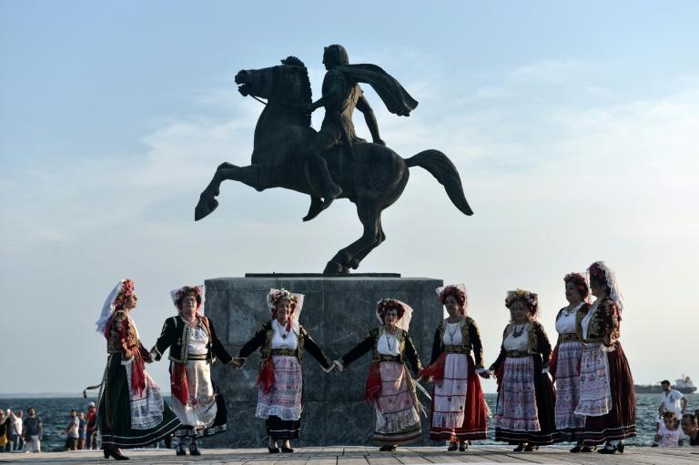 A statue of Alexander the Great in Macedonia's capital Skopje, where a planned deal to rename the country has been met with some scepticism