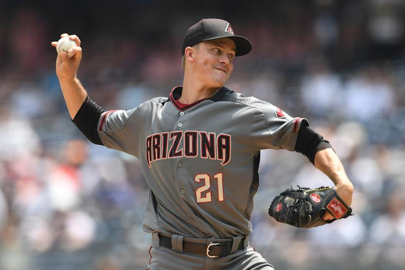 The Houston Astros landed Zack Greinke in a big, last-minute trade with the Arizona Diamondbacks. (Photo by Sarah Stier/Getty Images)