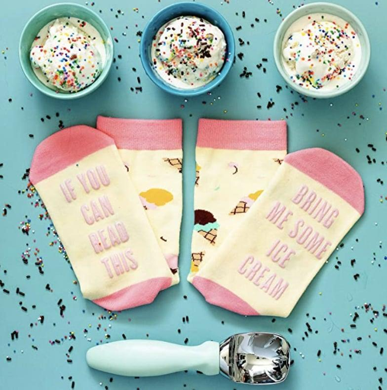<p>Let these <span>Funny Socks</span> ($10) do all the talking.</p>