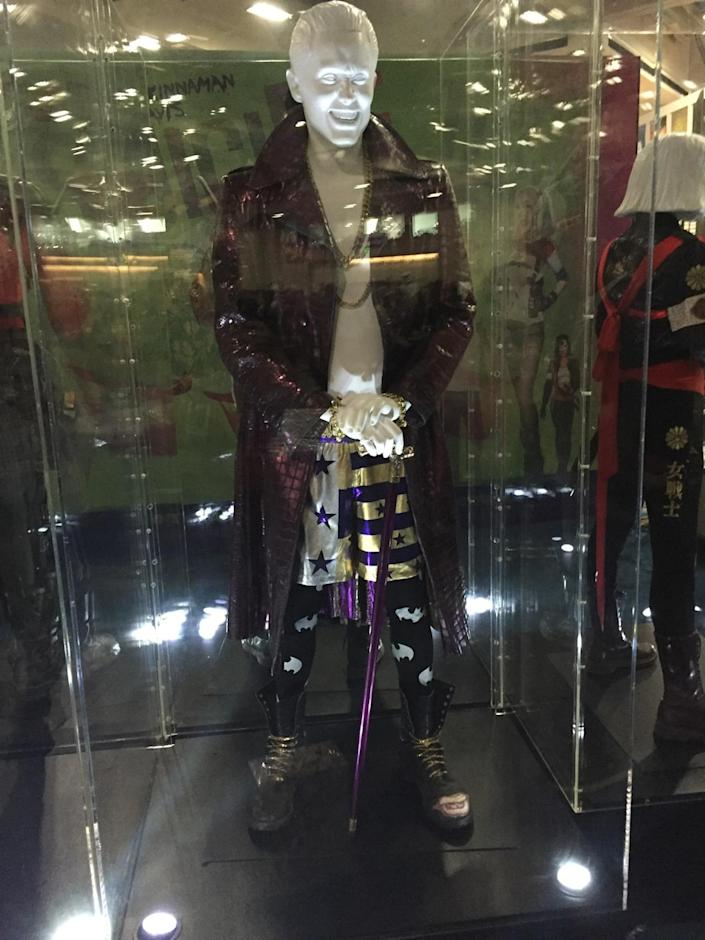 <p>The purple leather jacket might give Killer Croc pause, but the latest screen version of the Joker definitely has style.</p>