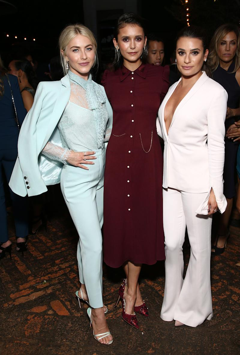 Julianne Hough, Nina Dobrev and Lea Michele at Emmys party