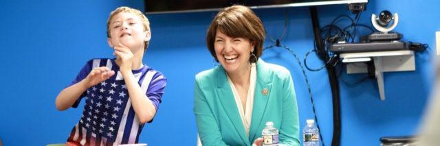 Representative Cathy McMorris Rodgers and her son