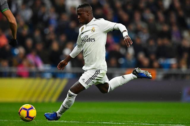 Brazilian starlet Vinicius Junior shone for Real Madrid against Leganes (AFP Photo/GABRIEL BOUYS )