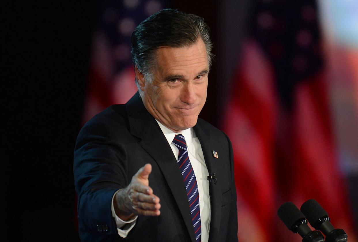 Just call me Mitt... orPierre Delecto. (Photo: DON EMMERT via Getty Images)