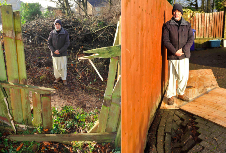 Kamran Chaudhary told Burnley Council he was concerned that the trees might fall (SWNS)